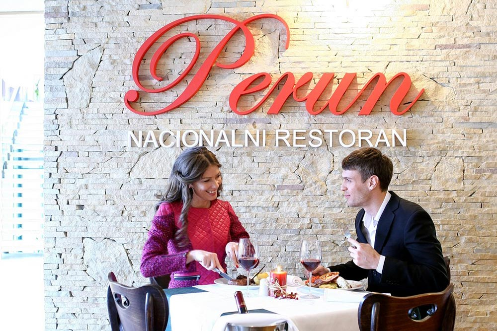 Perun national restaurant in hotel Mona
